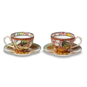 Set due tazze caffè decoro Taormina