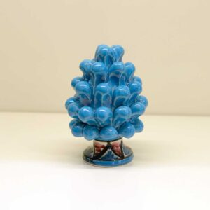 Pigna montata a mano in ceramica decoro azzurro