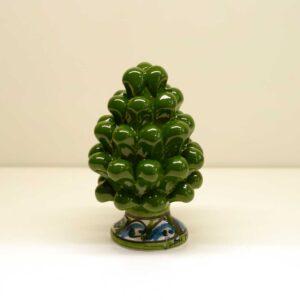 Pigna montata a mano in ceramica decoro verde