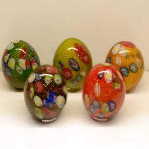 Uovo in murrine multicolor