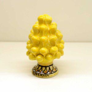 Pigna montata a mano decoro giallo