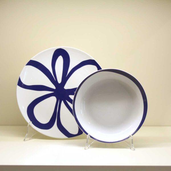 Servizio di piatti 18 pezzi Flo Blu