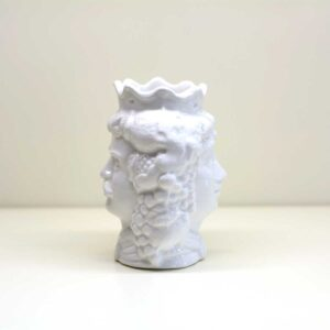Testa di moro bifaccia in ceramica