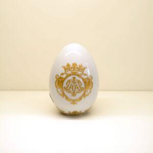 """Uovo decorazione oro """"Blanche Royal"""""""