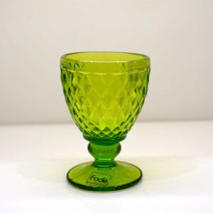 Confezione 6 Bicchieri Verdi Tuscany con piede