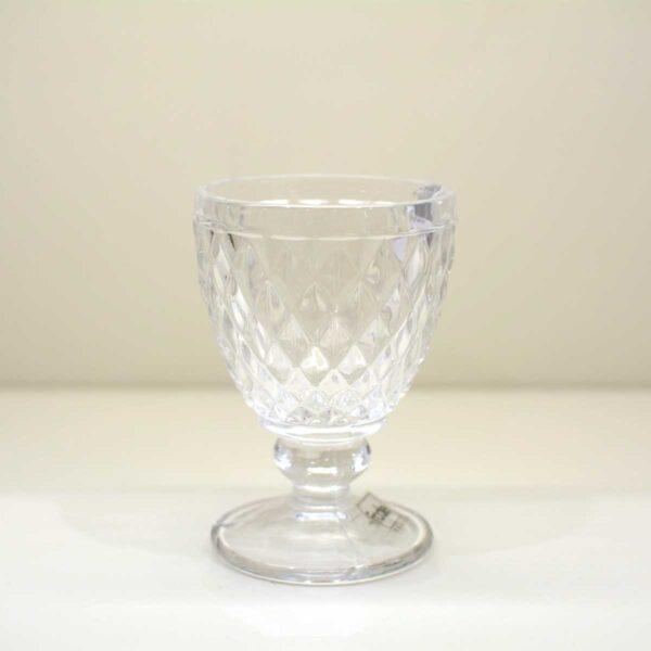 Confezione 6 Bicchieri Trasparenti Tuscany con piedino