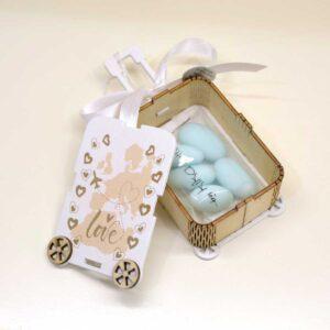 Bomboniera scatolina porta confetti Around the world