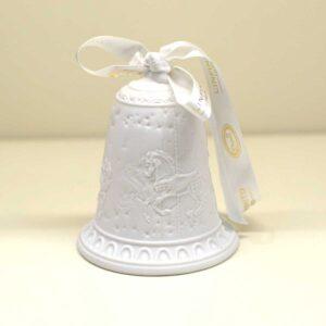 Bomboniera a campana in finissima porcellana bianca