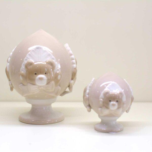 Bomboniera Pumo Baby orsetto tortora in porcellana