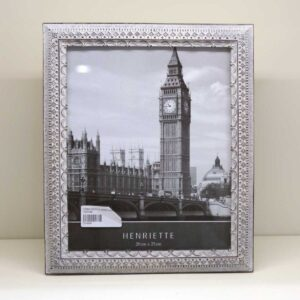Cornice portafoto rettangolare decoro gotica grigio