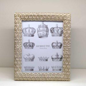 Cornice portafoto rettangolare decoro Geometric Champagne