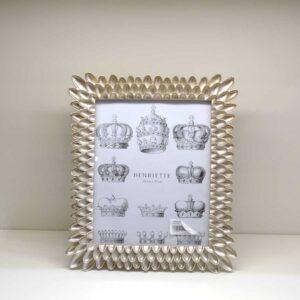 Cornice portafoto rettangolare decoro Sole Champagne