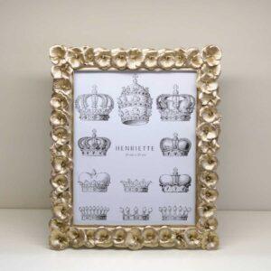 Cornice portafoto rettangolare decoro Viola Champagne