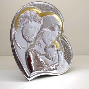 Capezzale Sacra Famiglia con decorazione oro