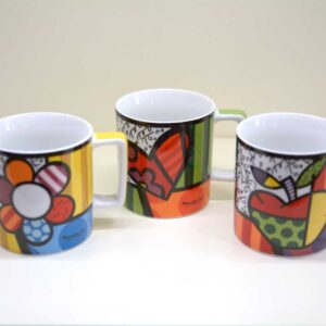 Boccale mug Britto in 3 fantasie