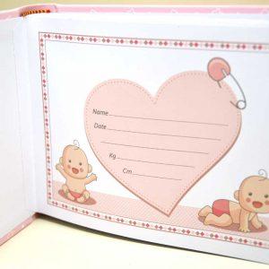 Album portafoto decoro orsetto rosa