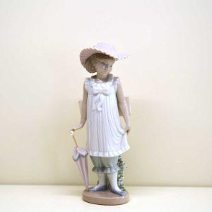Statuina Bambina elegante con ombrello BR 01126