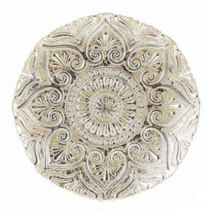 Piatto Panettone decoro argento invecchiato