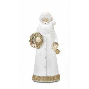 Babbo Natale bianco e oro Gold Polka