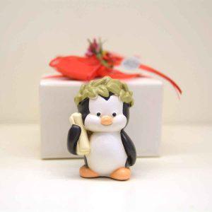 Bomboniera per laurea Pinguino con corona