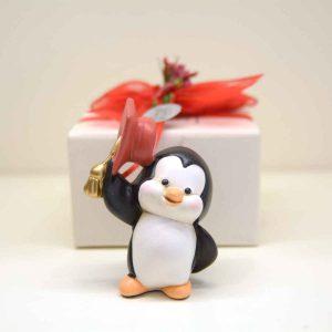 Bomboniera per laurea Pinguino con tocco